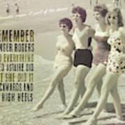 Seaside Rockettes Quote Art Print