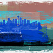 Seattle Abstract Skyline II Art Print