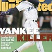 Seattle Mariners Ken Griffey Jr, 1995 Al Division Series Sports Illustrated Cover Art Print