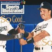 Seattle Mariners Ken Griffey Jr And Los Angeles Dodgers Sports Illustrated Cover Art Print