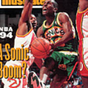 Seattle Supersonics Gary Payton... Sports Illustrated Cover Art Print