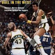 Seattle Supersonics Marvin Webster, 1978 Nba Western Sports Illustrated Cover Art Print