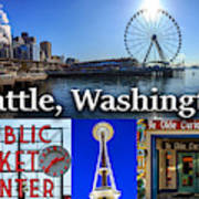 Seattle Washington Waterfront 01 Art Print