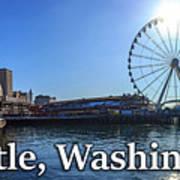 Seattle Washington Waterfront  Art Print