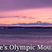 Seattle's Olympic Mountains Art Print