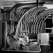 Secretary With Pneumatic Tube Art Print