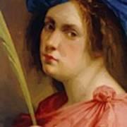 Self Portrait As A Female Martyr 1615 Art Print