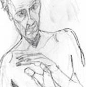 Self-portrait Pencil Reach 11 Art Print