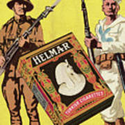 Servicemen Advertising Helmar Cigarettes Art Print