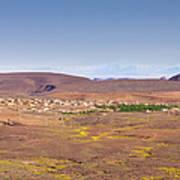 Settlement Leaving Ouarzazate To Agdz Art Print