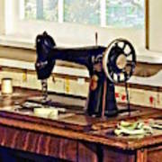Sewing Machine In Kitchen Art Print