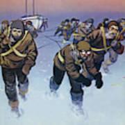 Shackleton In The Antarctic  Art Print