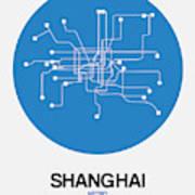 Shanghai Blue Subway Map Art Print