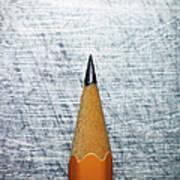 Sharpened Pencil On Stainless Steel Art Print