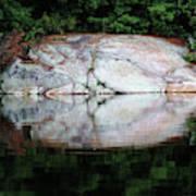 Shawanaga Rock And Reflections Iv Art Print