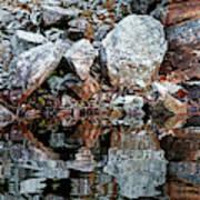 Shawanaga Rock And Reflections Vi Art Print