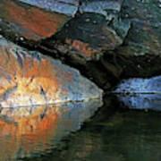 Shawanaga Rock And Reflections Xi Art Print