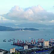 Shenzhen Bay And Shekou Port Art Print