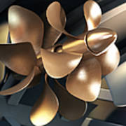 Ship Propeller Art Print