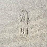 Shoe Print In Sand Art Print