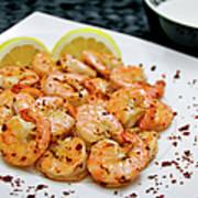 Shrimps With Chili Art Print