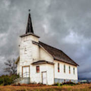 Shuttered Church In Cartwright North Dakota Art Print