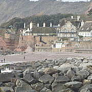 Sidmouth Sea Front Art Print