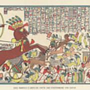 Siege Of Dapur By Ramesses II 1269 Bc Art Print