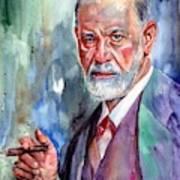 Sigmund Freud Portrait II Art Print
