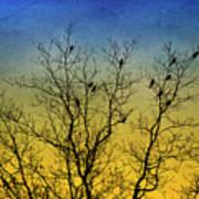 Silhouette Birds Sequel Art Print