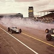 Silverstone Racing Art Print