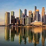 Singapore Financial Skyline, Singapore Art Print