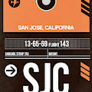Sjc San Jose Luggage Tag II Art Print