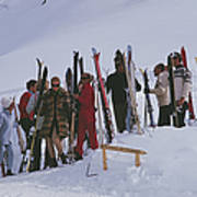 Skiers At Gstaad Art Print