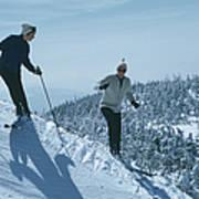 Skiers At Sugarbush Art Print