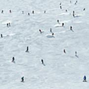 Skiing In Mayrhofen Austria Art Print