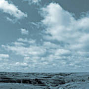 Slope County And Sky Art Print
