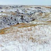 Slope County Snowfall Art Print