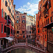 Small Canals In Venice Italy Art Print