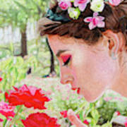 Smelling The Roses Art Print