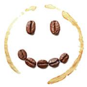 Smile Coffee Beans Art Print