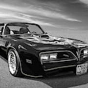 Smokey And The Bandit Trans Am In Mono Art Print