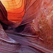Smooth Red Stone , Vermilion Cliffs Art Print