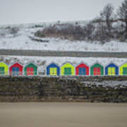 Snow At Barry Island Art Print