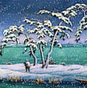 Snow At Hi Marsh, Mito - Digital Remastered Edition Art Print