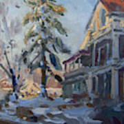 Snow In Town Art Print