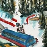Snowbird Lift Study Art Print