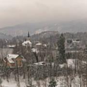 Snowy Bled In Slovenia Art Print
