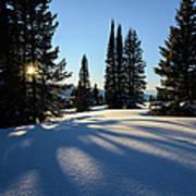 Snowy Mountain Scenic Landscape Art Print