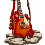 Soft Guitar - 3 Art Print
